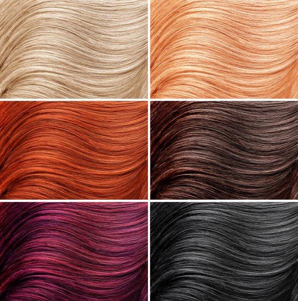 różne kolory włosów kobiecych